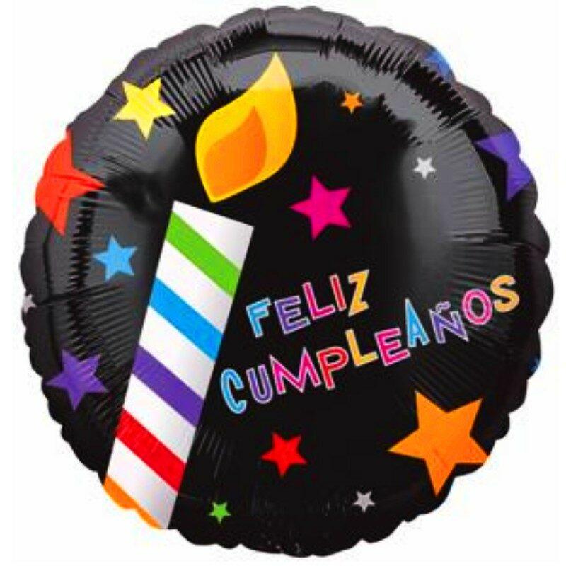 "Globo Metálico Cumpleaños Mensaje Feliz cumpleaños Candles 18"" Met"