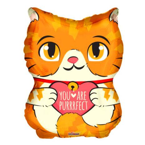 "Globo Metalico San Valentin you are perrrfect gato 18"" Met"