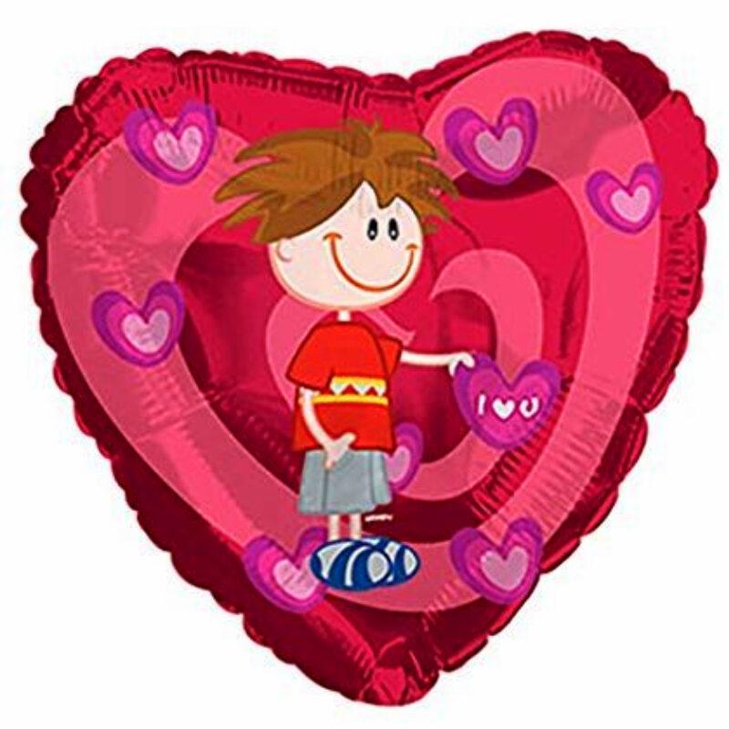 "Globo Metalico San Valentin love wompy 18"" Met"