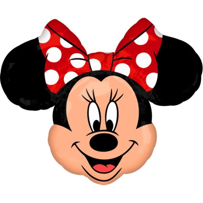 "Globo Metálico Cumpleaños Personaje Minnie mouse rojo 36"" Met"