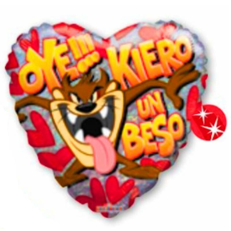 "Globo Metalico San Valentin taz quiero un beso 9"""