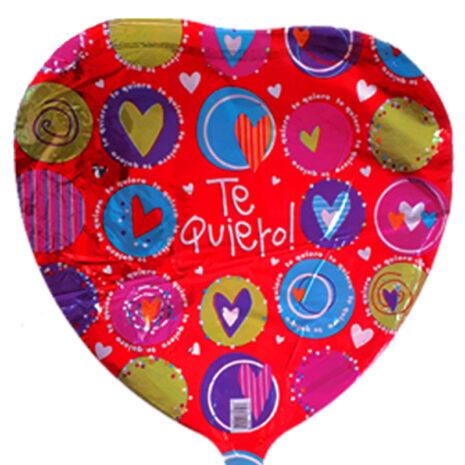 "Globo Metalico San Valentin te quiero colores 18"" Met"