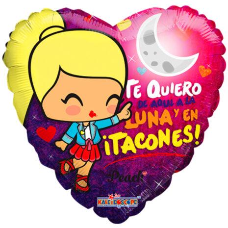 "Globo Metalico San Valentin peach luna 18"" Holo"
