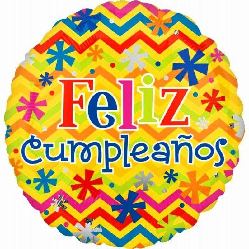 "Globo Metálico Cumpleaños feliz cumpleaños bright 18"" Met"