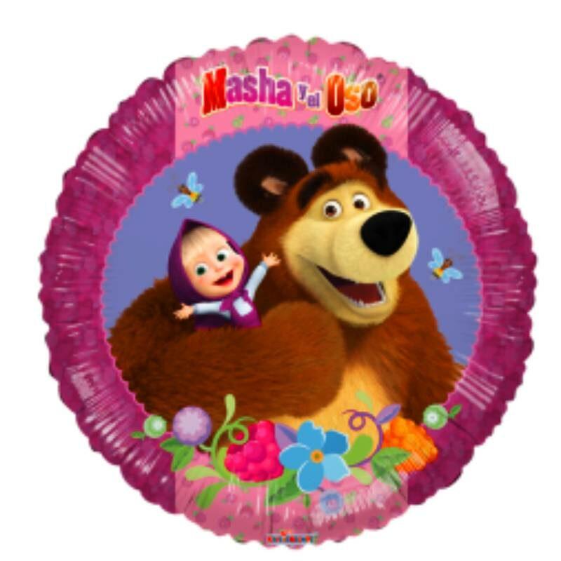 """Globo Metálico Cumpleaños Personaje Masha y el Oso 09"""""""
