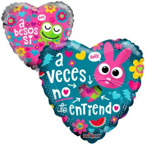 "Globo Metalico San Valentin a besos si onix 9"""