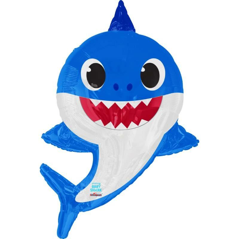 "Globo Metálico Cumpleaños Personaje Papa Shark 36"" Met"
