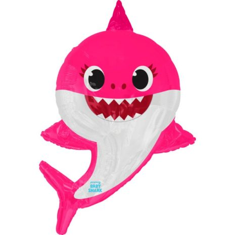 "Globo Metálico Cumpleaños Personaje Mama Shark 36"" Met"