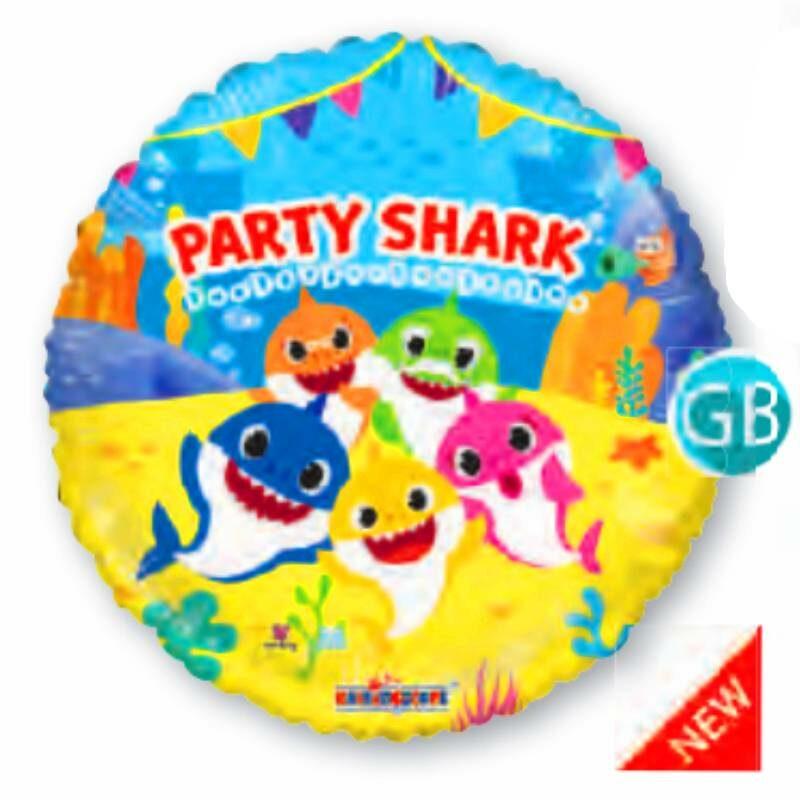 "Globo Metalico Babie Shark Familia 18"""