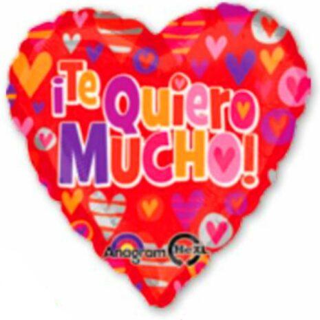 "Globo Metalico San Valentin te quiero mucho 36"""