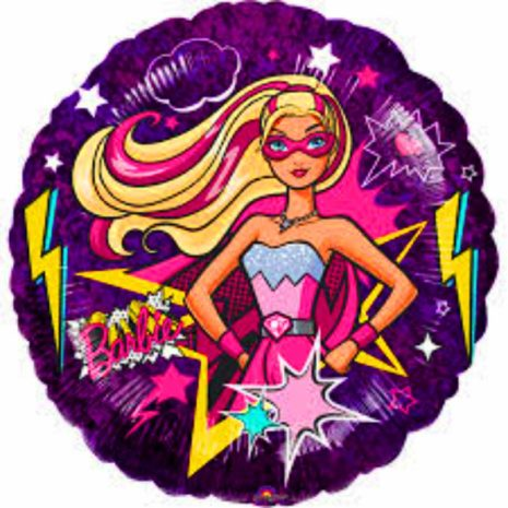 "Globo Metalico Barbie super star 18"""
