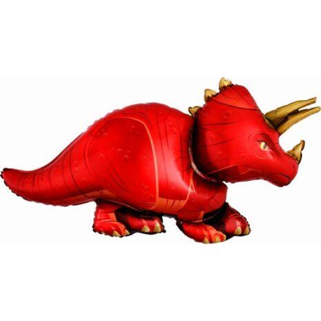 """Globo Metálico Cumpleaños Mensaje Triceratops 36"""""""