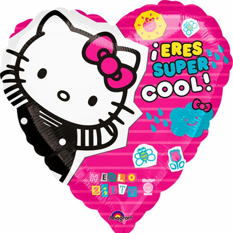"Globo Metalico San Valentin hello kitty super cool 18"" Met"