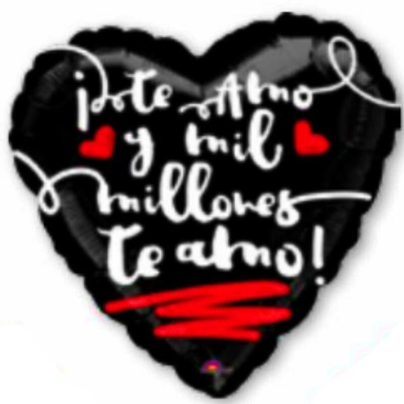 "Globo Metalico San Valentin te amo mil millones 9"""