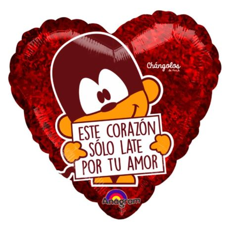 "Globo Metalico San Valentin changolos solo late 9"""