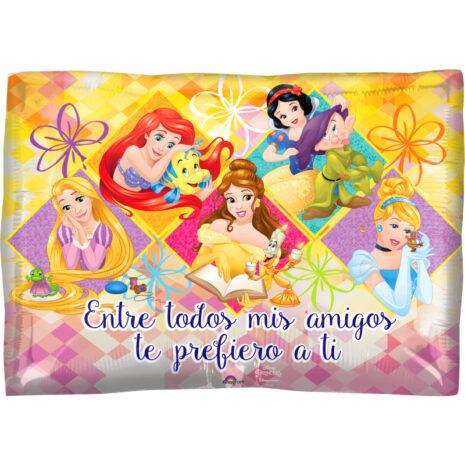 """Globo Metalico San Valentin princesas prefiero tu amistad 18"""" Met"""