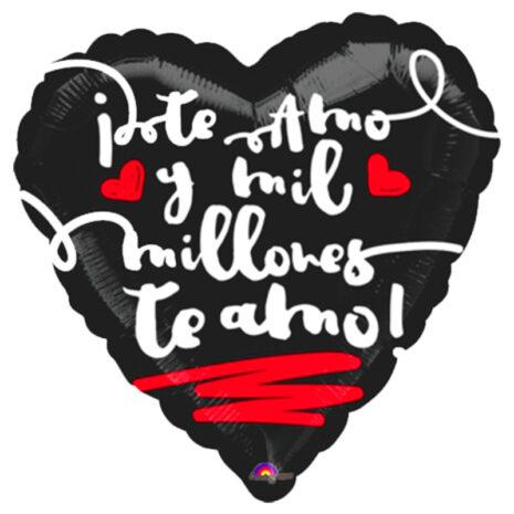 "Globo Metalico San Valentin te amo mil millones 18"" Met"