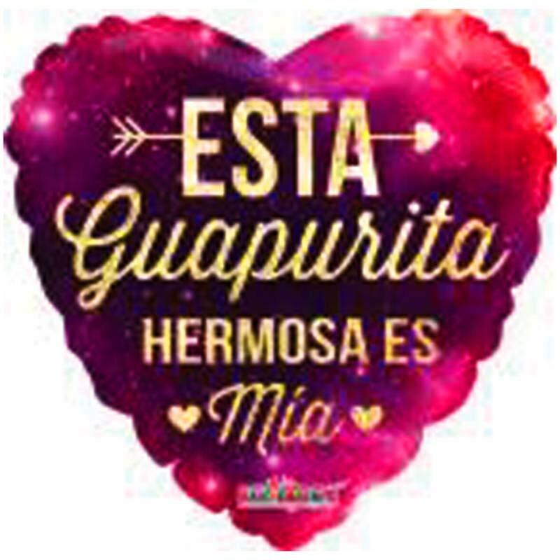 "Globo Metalico San Valentin hola guapa 9"""