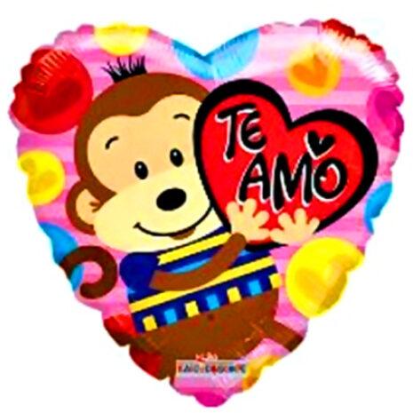 "Globo Metalico San Valentin te amo changito 18""Met"