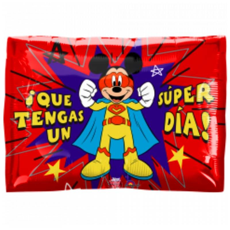 "Globo Metálico Cumpleaños Personaje super hereo mickey 18"" Met"