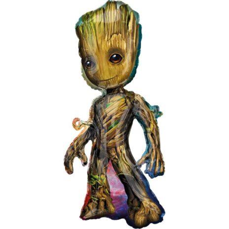 """Globo Metálico Cumpleaños Personaje Baby Groot 36"""" Met"""