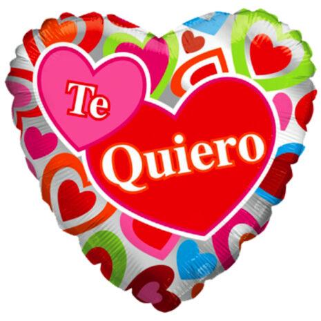 "Globo Metalico San Valentin te quiero corazon multi 18"" Met"