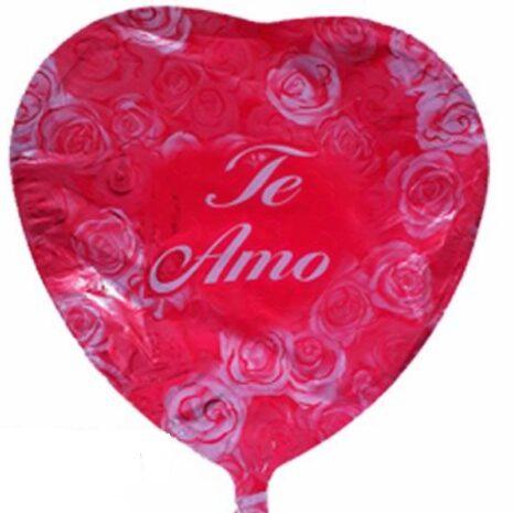 """Globo Metalico San Valentin te amo rosas bicolor 18"""""""