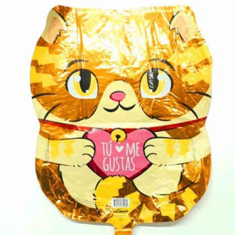 "Globo Metalico San Valentin tu me gustas gato 18"""