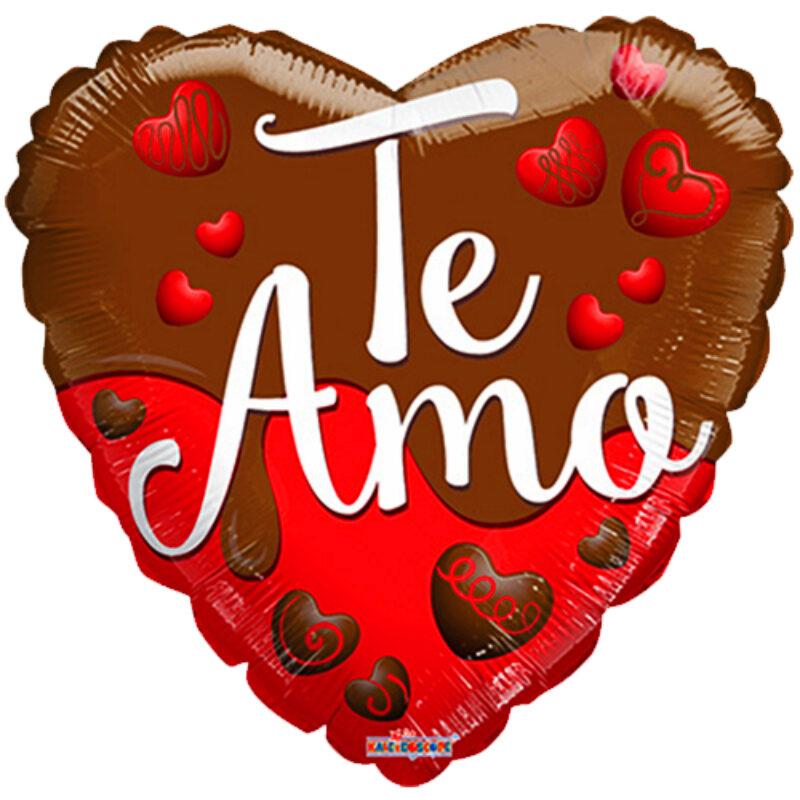 "Globo Metalico San Valentin te amo chocolate 18""Met"