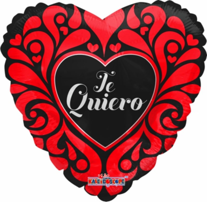 "Globo Metalico San Valentin te quiero ornamentos 18"" Met"