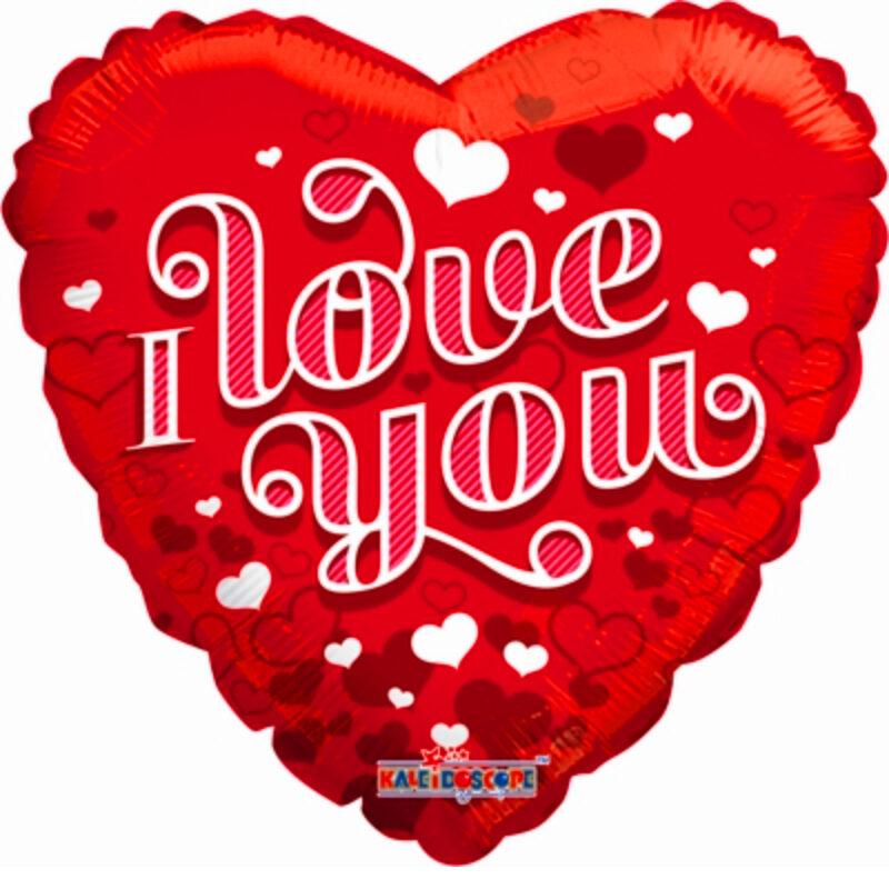 """Globo Metalico San Valentin love you corazones 18"""""""