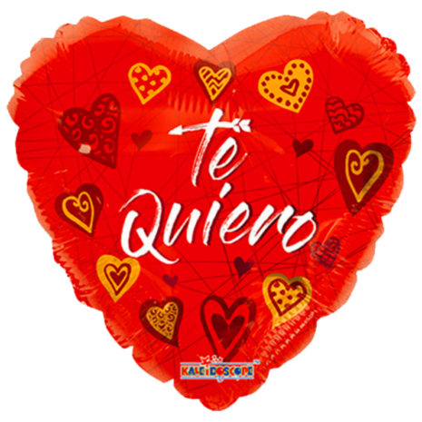 "Globo Metalico San Valentin me- te quiero 18""Met"