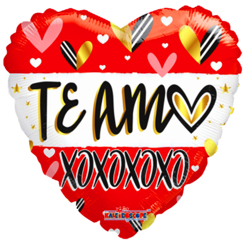 "Globo Metalico San Valentin te amo xoxo 18"" Met"