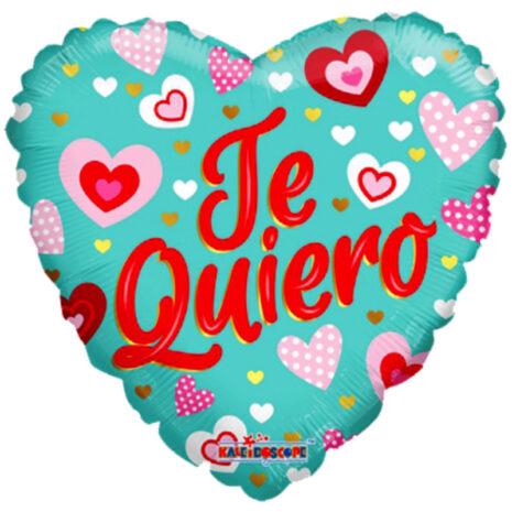 "Globo Metalico San Valentin te quiero turquesa 18"" Met"