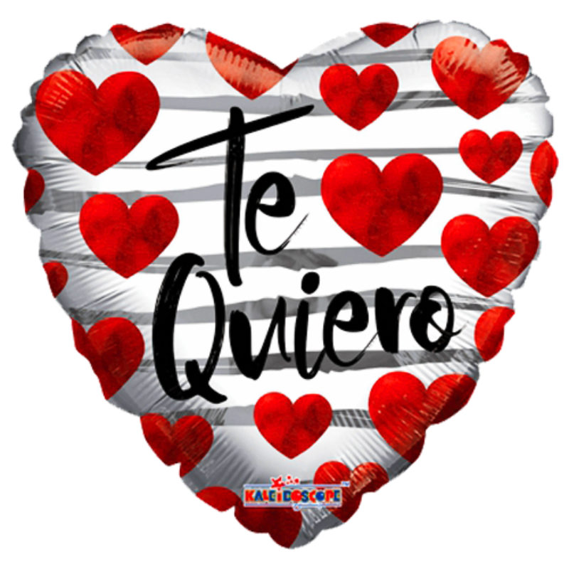 "Globo Metalico San Valentin te quiero corazon rojos 18""Met"