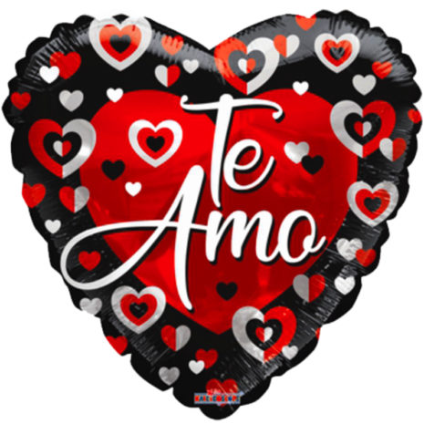 "Globo Metalico San Valentin te amo corazon bicolor 18""Met"