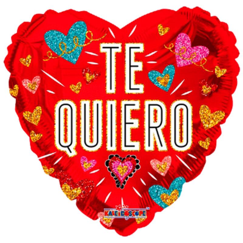 "Globo Metalico San Valentin te quiero corazones 18"" Met"