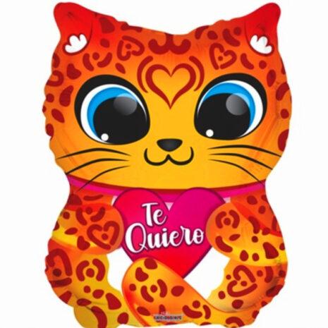 """Globo Metalico San Valentin te quiero jaguar junior 18"""" Met"""