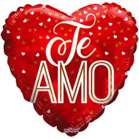 "Globo Metalico San Valentin te amo tipografias 18"" Met"