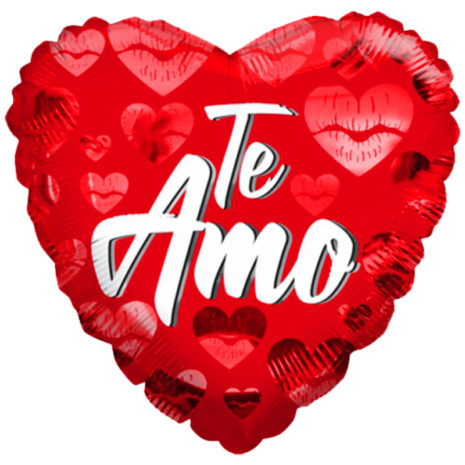 "Globo Metalico San Valentin te amo besos 18""Met"