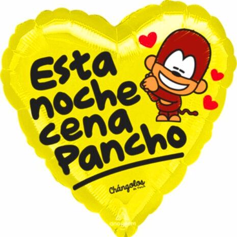 "Globo Metalico San Valentin esta noche cena pancho 18"" Met"