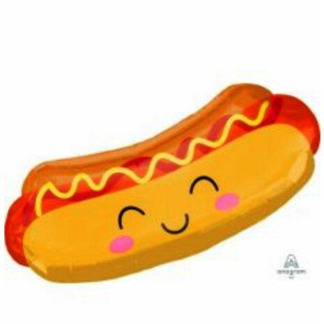 "Globo Metálico Cumpleaños Mensaje Hot dog 36"" Met"