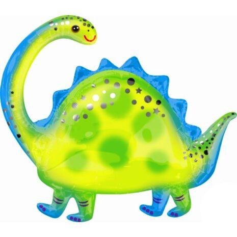 "Globo Metálico Cumpleaños Mensaje Brontosaurus 36"""