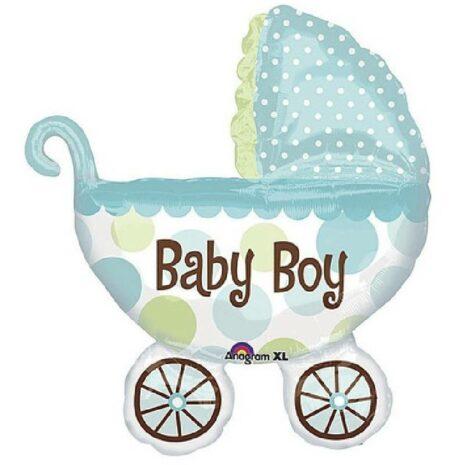 """Globo Metalico Baby Boy Carreola 36"""""""