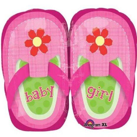 "Globo Metalico Baby Girl Pretty Pink 36"""