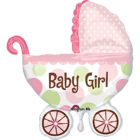 """Globo Metalico Baby Girl Carreola 36"""""""