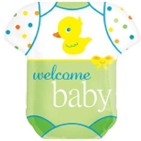 """Globo Metalico Welcome Baby 36"""""""