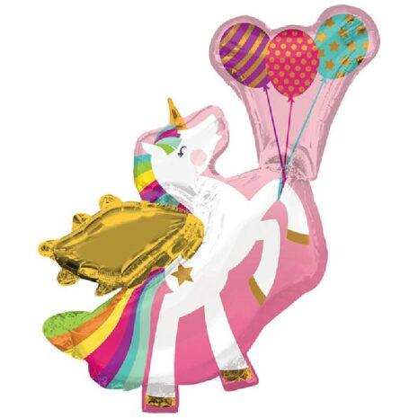 """Globo Metálico Winged Unicorn Super Shape 36"""""""