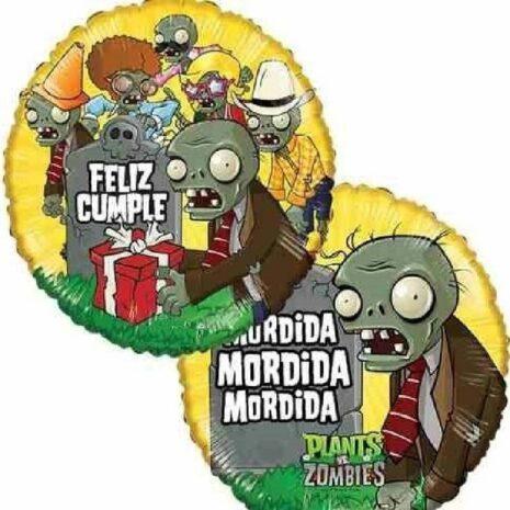 "Globo Metalico PromocionPlantas VS zOMBIES 18"""