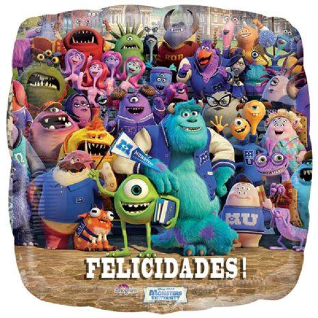 "Globo Metálico Monsters University 09"""